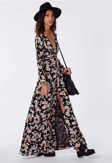 Shop this: 70's look/ Floral maxi dress - BethieLife